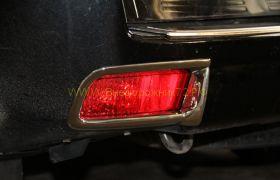 Хромированные накладки на задние противотуманные фары для Toyota Land Cruiser Prado 150
