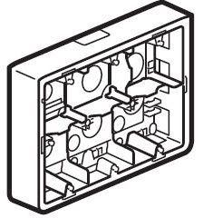 Коробка для накладного монтажа Legrand Mosaic  (арт.80276)