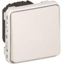 Кнопочный выключатель Legrand Plexo IP55 10A НО контакт,белый(арт.69630)