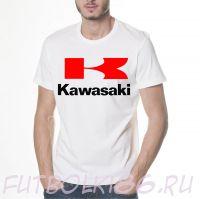 Футболка логотип Kawasaki