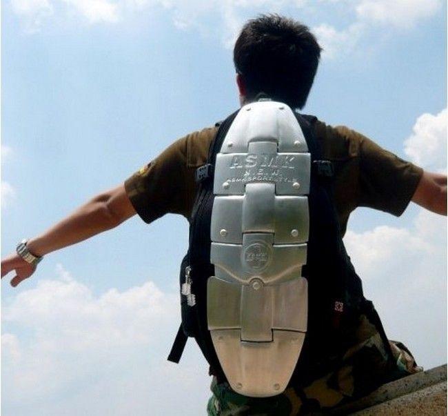 Мото рюкзак ASMK с защитой