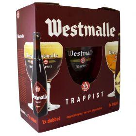 "Пивной набор ""Westmalle Trappist"" 2*0.33 л"