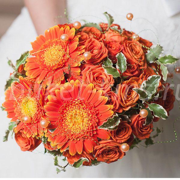 """Букет невесты """"Оранжевое счастье"""""""