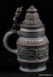 Старинная пивная кружка, 1/2 л, Merkelbach & Wick, Германия, 1879-1927 гг