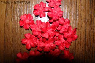 """Цветочки """"Красный цвет"""" (маленькие)"""