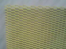 Сетка в бампер, Сота, алюминий, цвет желтый, размер 100 х 25см