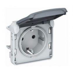 Розетка Legrand Plexo IP55 2К+З,немецкий стандарт серый (арт.69570)