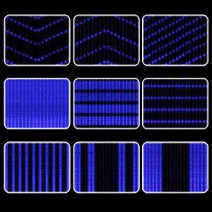 Цифровой  занавес «Диджитал», синий