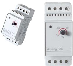 Devi терморегулятор Devireg 330, +30°C-+90°C , с датчиком на проводе.