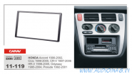 Carav 11-119 (2-DIN Honda Accord 1990-2002; Civic 1999-2000; CR-V 1997-2006; H-RV 1998-2005; Odyssey