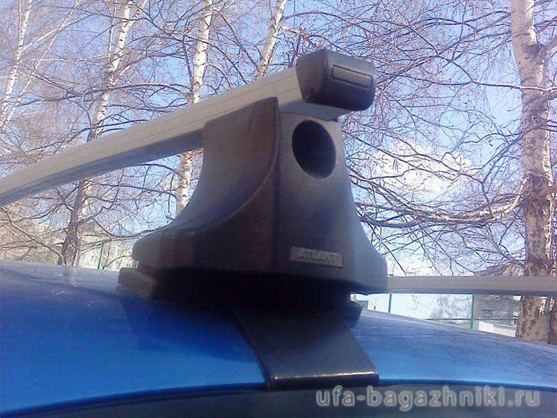 Багажник на крышу Chevrolet Aveo, Атлант, прямоугольные дуги