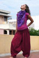 фиолетовый индийский шарф из хлопка, Санкт-Петербург