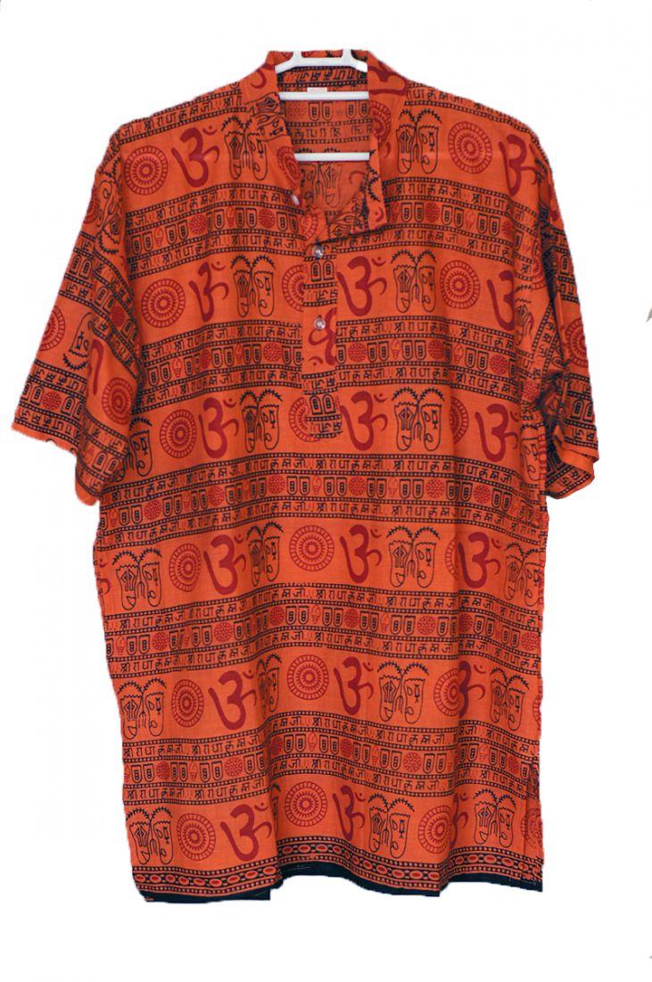 Мужские индийские рубашки с коротким рукавом на лето (отправка из Индии)