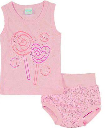 Комплект розового нижнего белья