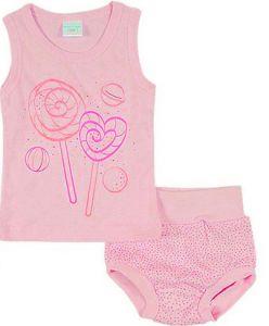 Маечка и трусики розового цвета