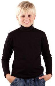 водолазка для мальчика черного цвета с длинным рукавом