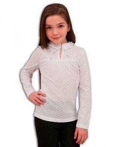 Белая нарядная блузка для девочки