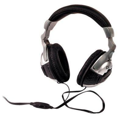 Наушники накладные Gryphon HN-869 серый + черный, кабель 3 м