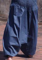 Синие штаны алладины, натуральный хлопок