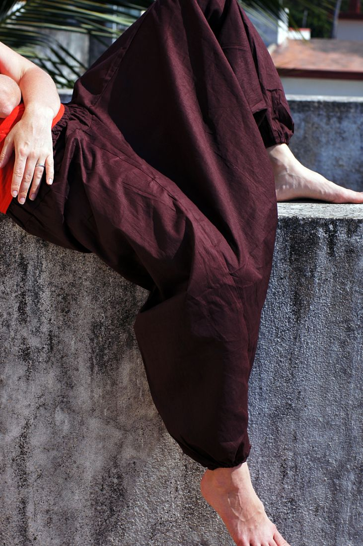 Индийские штаны алладины с широким поясом (СПб)