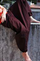 Индийские штаны алладины шоколадного коричневого цвета