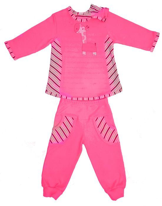 Комплект для девочки розовый Жираф
