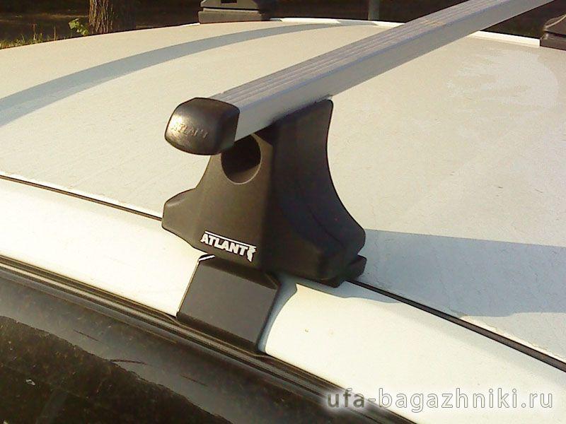 Багажник на крышу Renault Fluence, Атлант, прямоугольные дуги