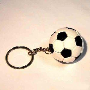 Брелок  футбольный мяч ( D-4см )