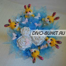 """Букет из игрушек №029-5 """"Голубая мечта"""""""
