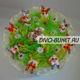 """Букет из игрушек №037-9 """"Нежная зелень"""""""