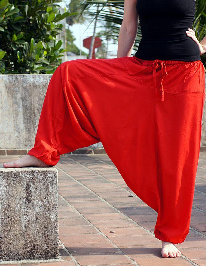 Индийские штаны алладины с узким поясом, вискоза (отправка из Индии)
