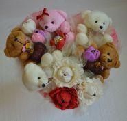 """Букет из игрушек с конфетами №002-5к """"Сладкое счастье"""""""