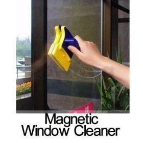 Магнитная щетка для двухстороннего мытья стекол