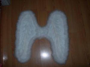 Крылья перьевые белые 50 х 50 см (4954)