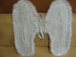 Крылья перьевые белые 60 х 60 см
