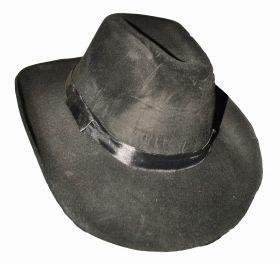 Шляпа велюровая черная