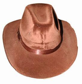 Шляпа велюровая коричневая