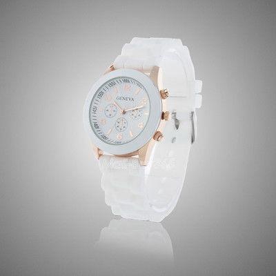 Белые наручные часы Geneva