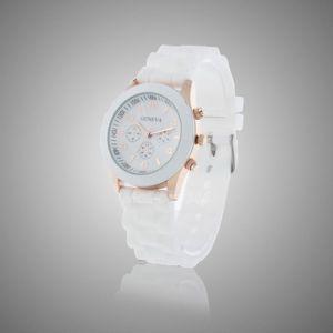 Белые с золотом женские наручные часы