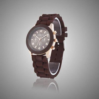Коричневые наручные часы Geneva