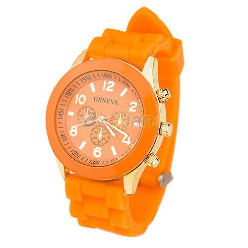 Оранжевые наручные часы Geneva