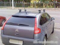Багажник на крышу Citroen С4, Атлант, прямоугольные дуги