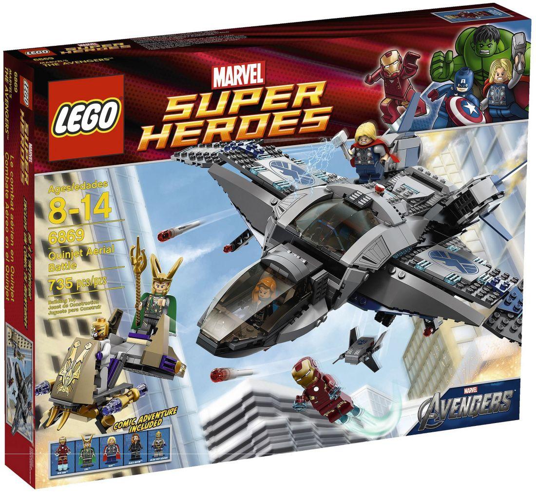 6869 Железный Человек: Боевые действия Квинджета Конструктор ЛЕГО Супергерои