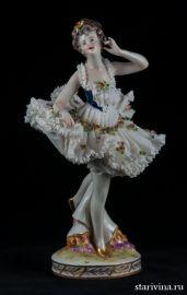 Балерина-кружевница, Volkstedt, Германия, 1915-35 гг., артикул 00551