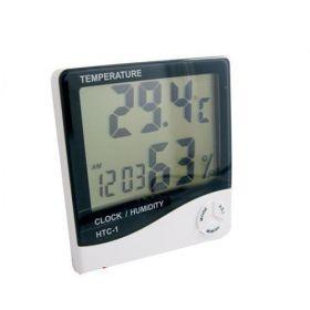 Электронный термометр с часами с диапазоном влажности