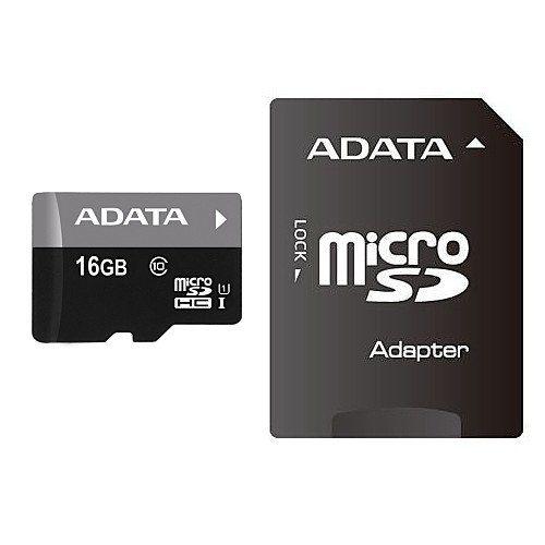 16GB карта памяти Premier MicroSDHC UHS-I Class 10 ADATA 40/15 MB/s + SD adapter