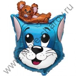 Шар фольгированный Кот и мышка 61 см
