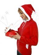 вид сбоку - новогодняя толстовка Санта