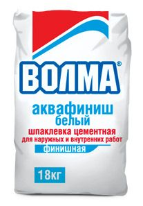 Волма Аквафиниш Белый - армированная цементная шпаклевка (18 кг)