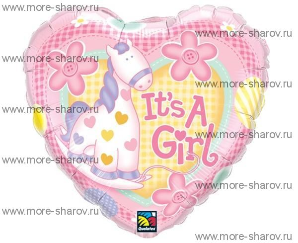 Шар It's a girl 46 см